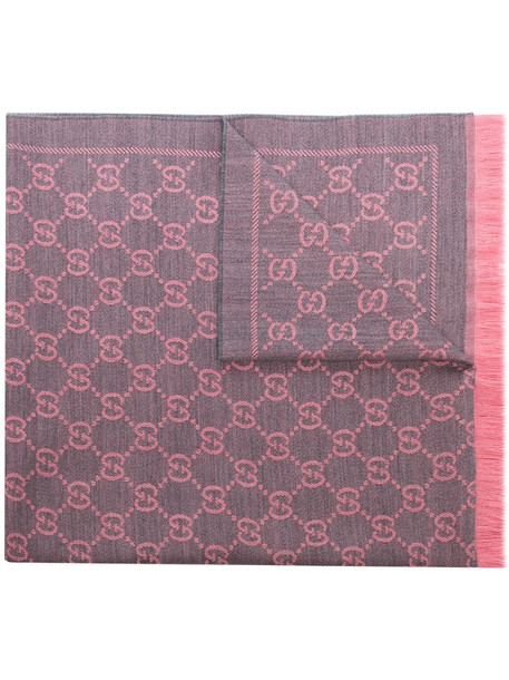 Gucci Sten reversible scarf in pink