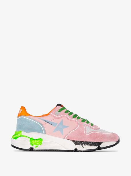 Golden Goose Multicoloured running sole sneakers in pink