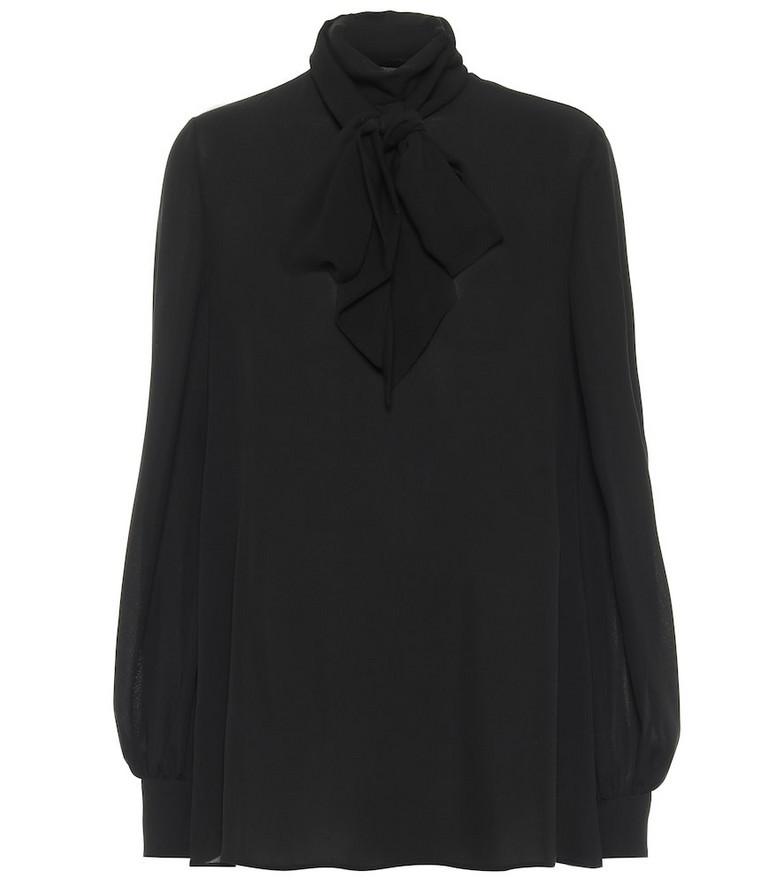 Valentino Silk georgette blouse in black