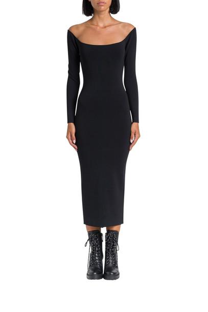 Alexander Wang Sheer Yoke Dress in nero