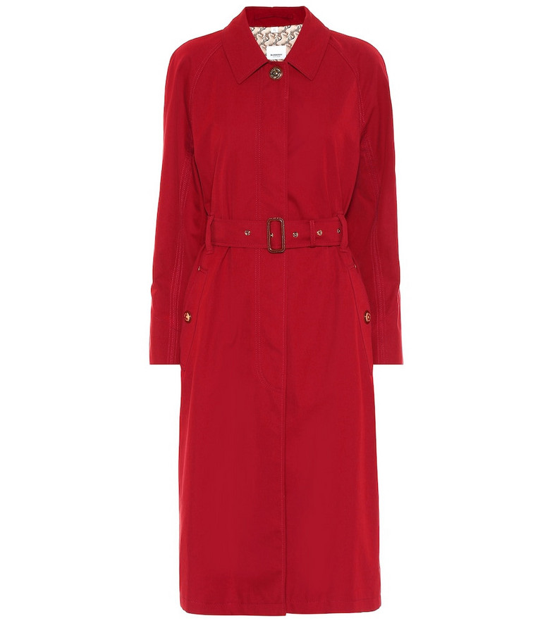 Burberry Tropical gabardine car coat in red
