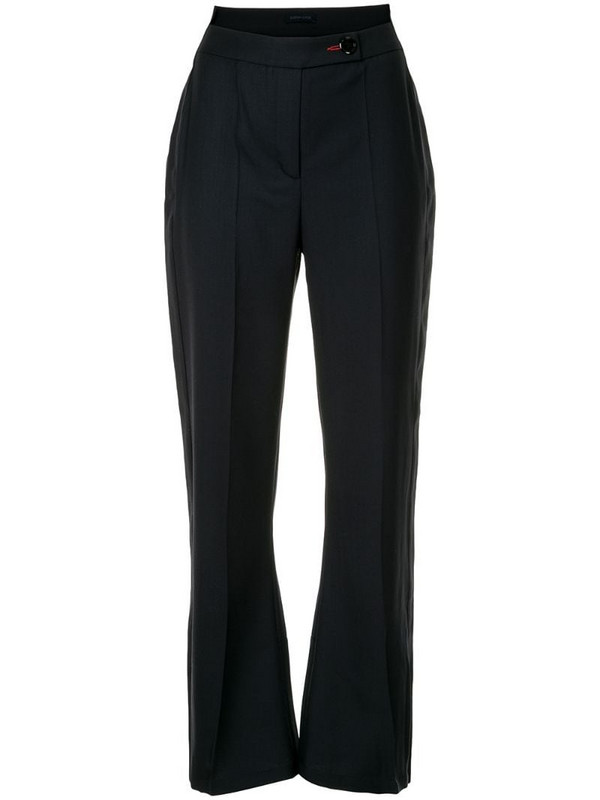 Eudon Choi high rise flared trousers in blue