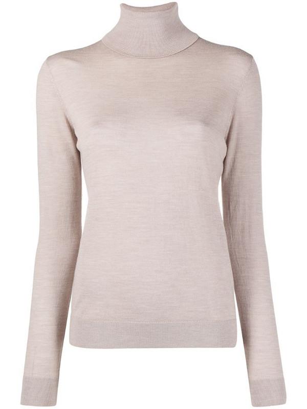 12 STOREEZ roll neck merino sweater in neutrals