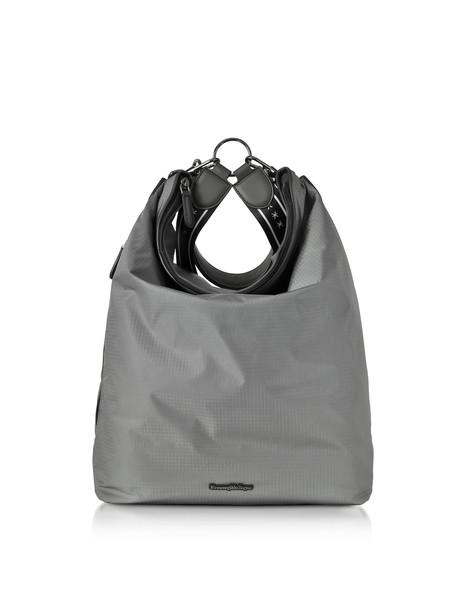 Ermenegildo Zegna Gray Nylon Men's Tote Bag/backpack