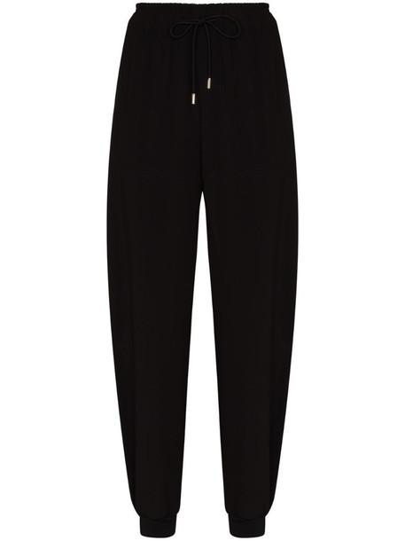 Chloé tapered-leg track pants in black