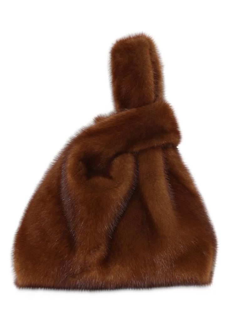 SIMONETTA RAVIZZA Furissima Mink Fur Bag in brown