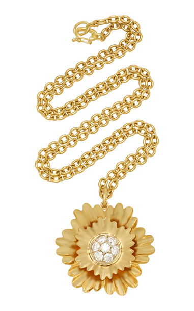 Irene Neuwirth 18K Gold And Diamond Necklace