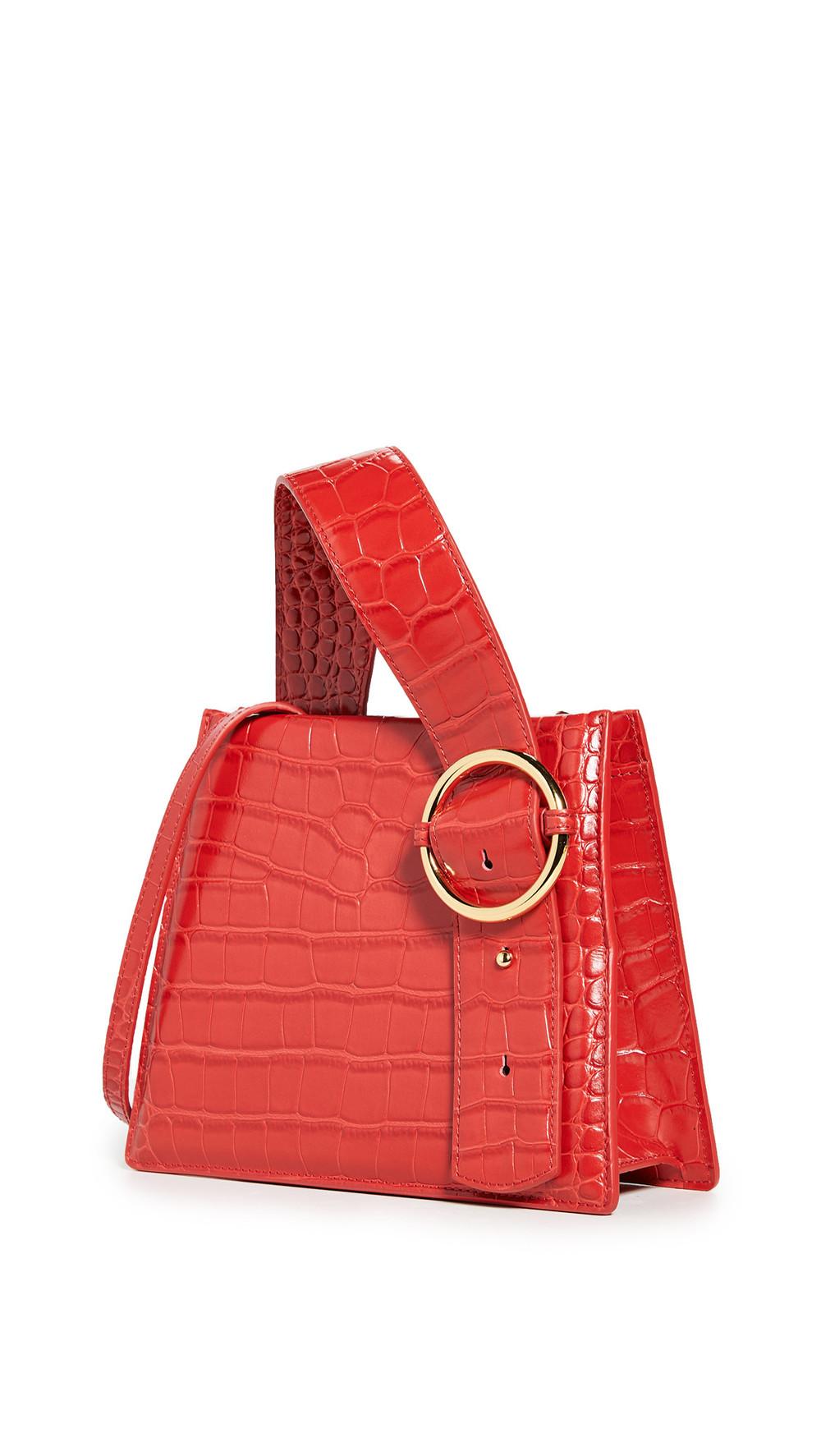 Parisa Wang Enchanted Top Handle Bag in red