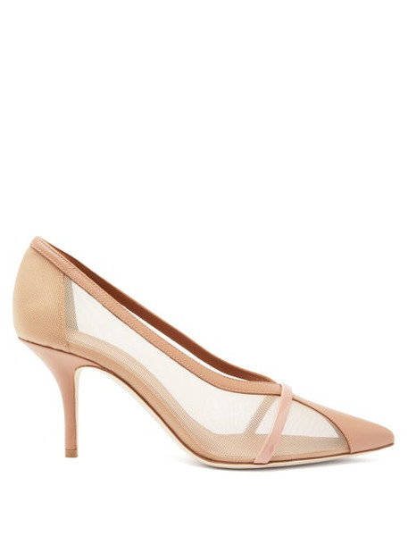 Malone Souliers - Brook Mesh And Leather Pumps - Womens - Nude