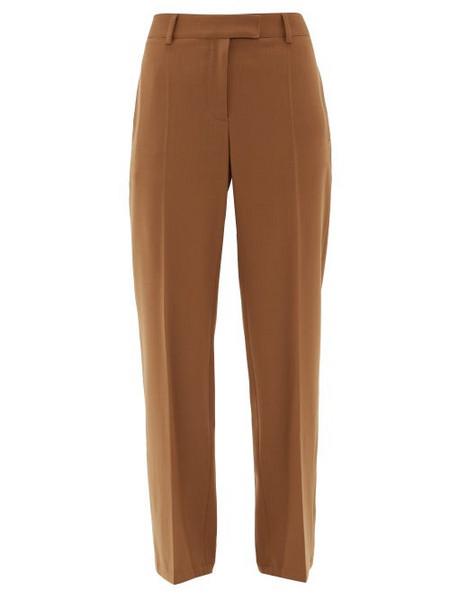 A.P.C. A.p.c. - Cece High Rise Twill Straight Leg Trousers - Womens - Camel
