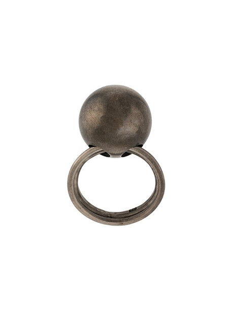Ann Demeulemeester ball bearing ring in brown