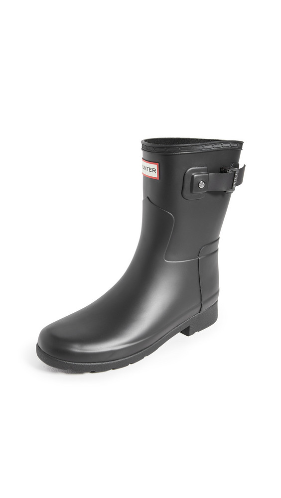 Hunter Boots Refined Short Matte Boots in black