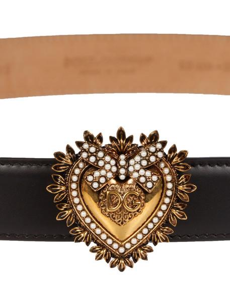 Dolce & Gabbana Embellished Buckle Belt in nero