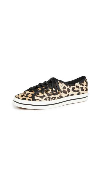 Keds Kate Spade Kickstart Leopard Sneakers in tan / multi