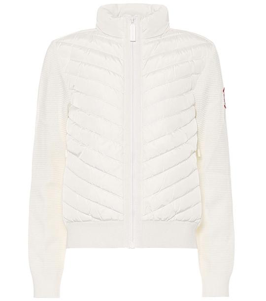 Canada Goose HyBridge® down and merino wool jacket in white