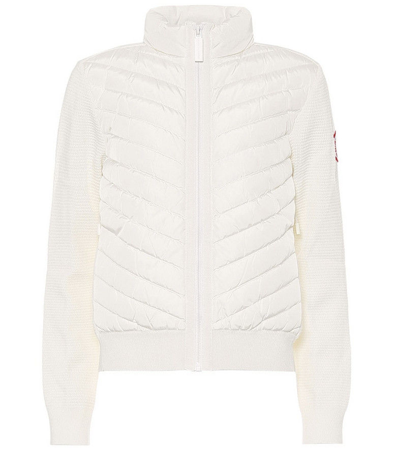 Canada Goose HyBridge® down and merino wool jacket in white