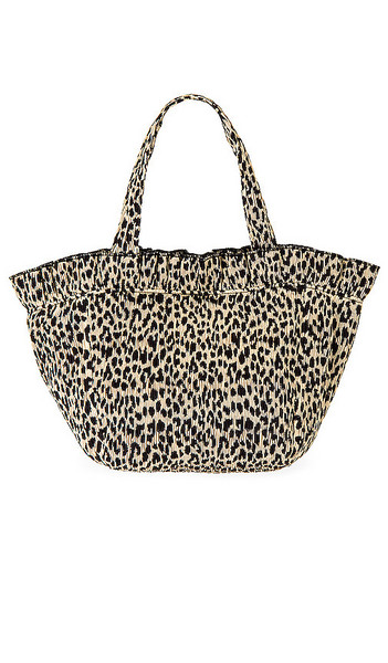 Loeffler Randall Claire Ruffle Tote in Brown in leopard