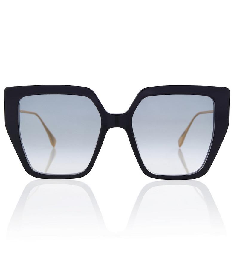 FENDI Square-frame Baguette acetate sunglasses in black