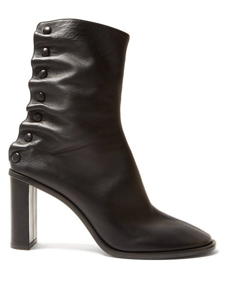 The Row - Tea Time Leather Boots - Womens - Black