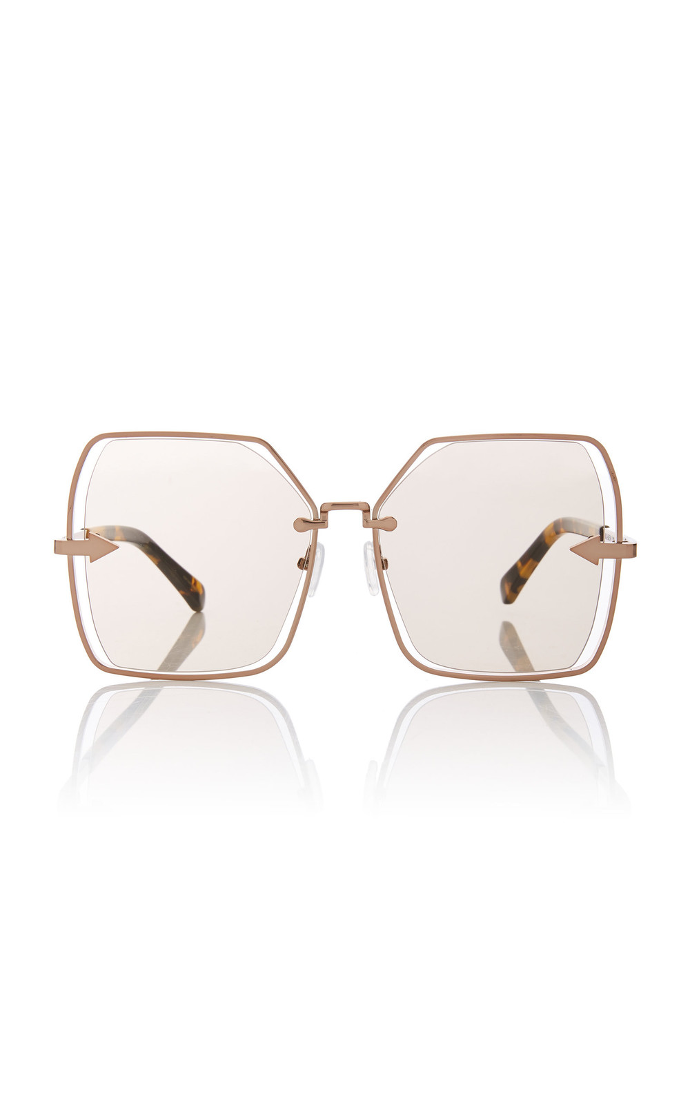 Karen Walker Nirvana Butterfly-Frame Gold-Tone Sunglasses in neutral
