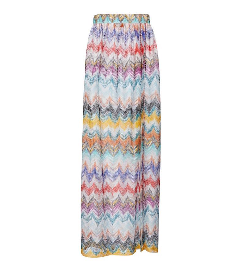 Missoni Mare Zig-zag knit midi skirt