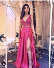 dress,pink,prom dress,gown