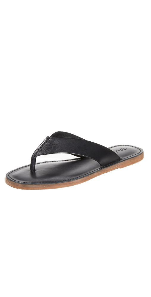 Madewell Boardwalk Thong Sandals in black