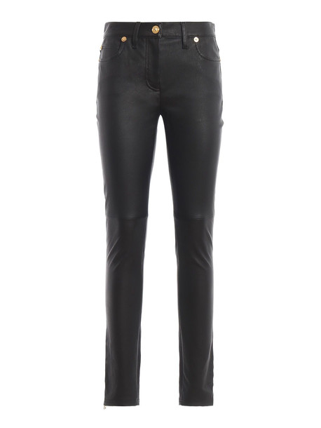 Versace Leather Pants in nero