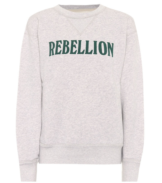 Isabel Marant, Étoile Rise cotton-blend jersey sweatshirt in grey