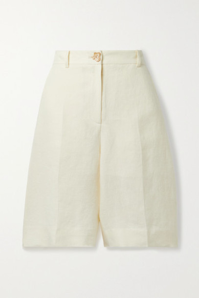 REJINA PYO - Riley Linen Shorts - Cream