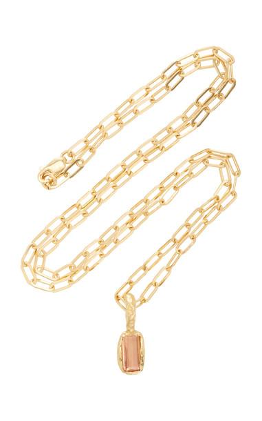 Fie Isolde Freja Topaz Pendant Necklace in brown