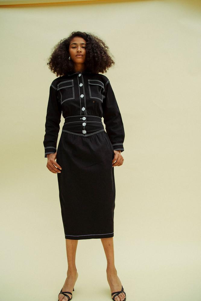 The Line by K Jude Dress Black