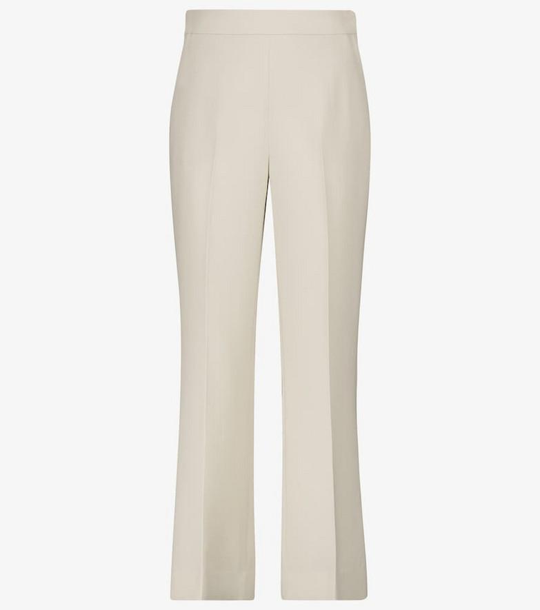 Loro Piana Leandre straight-leg wool pants in white