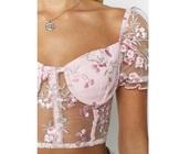 shirt,pink,floral,sheer