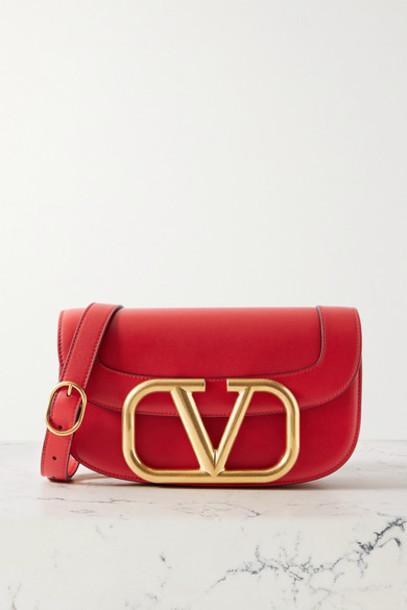 Valentino - Valentino Garavani Supervee Leather Shoulder Bag - Red