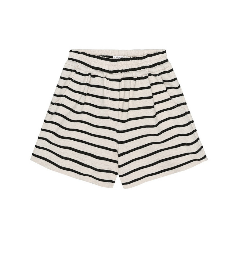 Brunello Cucinelli Kids Exclusive to Mytheresa – Striped cotton-jersey shorts in beige