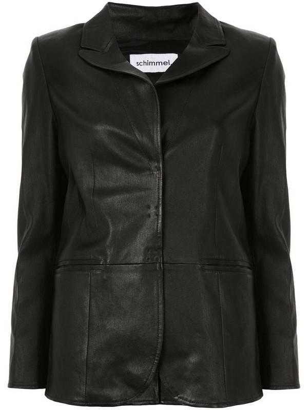 Sylvie Schimmel single-breasted fitted blazer in black