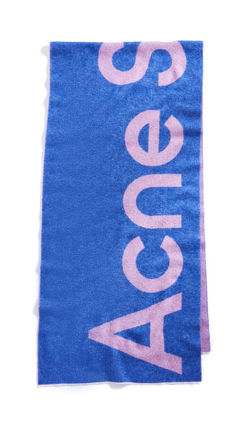 Acne Studios Toronty Logo Scarf in purple