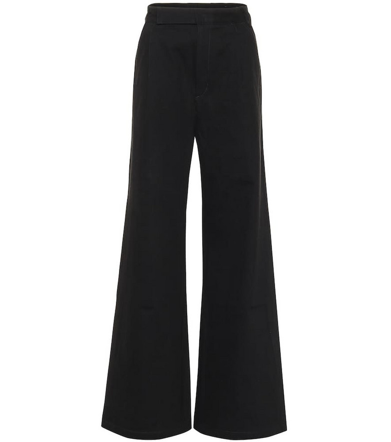 Goldsign The Ultra Wide Leg cotton pants in black