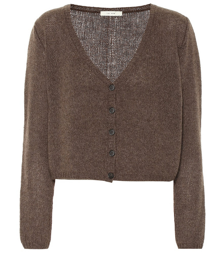 The Row Cashmere cardigan in brown
