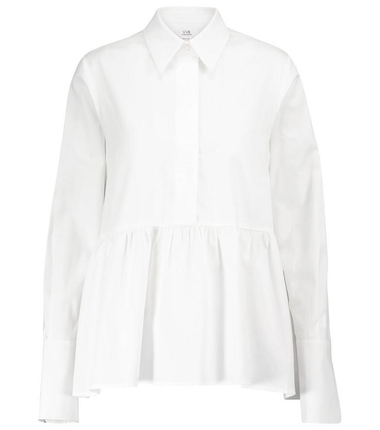 Victoria Victoria Beckham Organic cotton peplum shirt in white