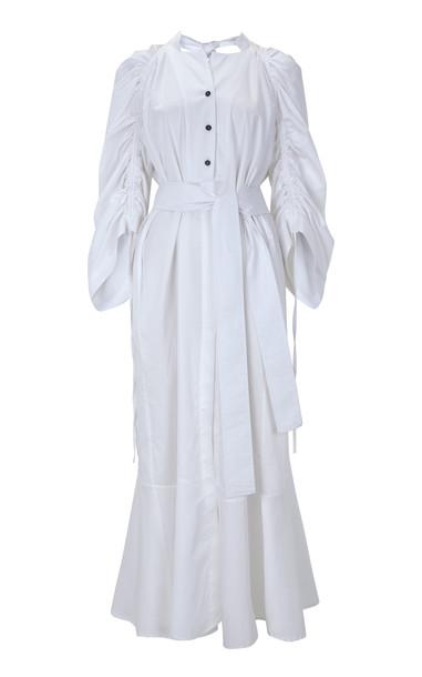 Eudon Choi Jesse Cotton Dress Size: 8 in white