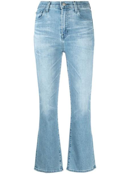J Brand cropped denim jeans in blue