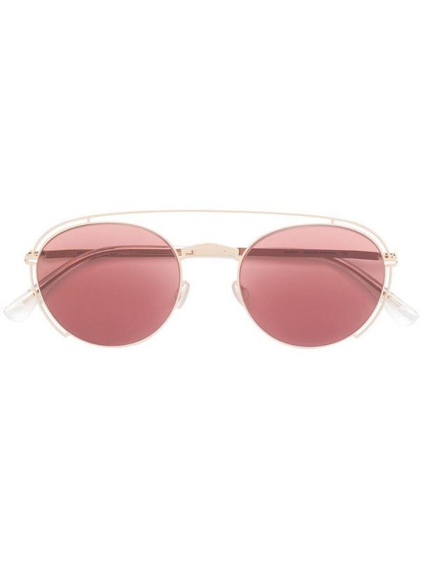 Mykita round tinted sunglasses in gold