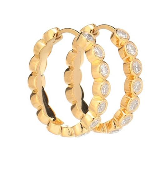THEODORA WARRE Medium gold-plated hoop earrings