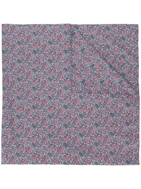 Mackintosh paisley-print scarf in blue