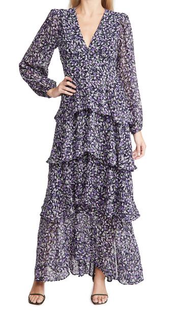 ASTR the Label Romance Me Dress in navy / purple / multi