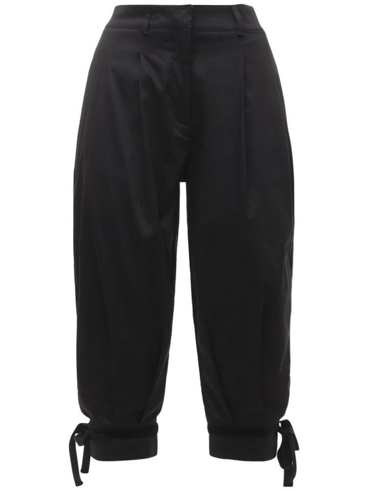 ÀCHEVAL PAMPA Dulce Cotton Satin Shorts in black