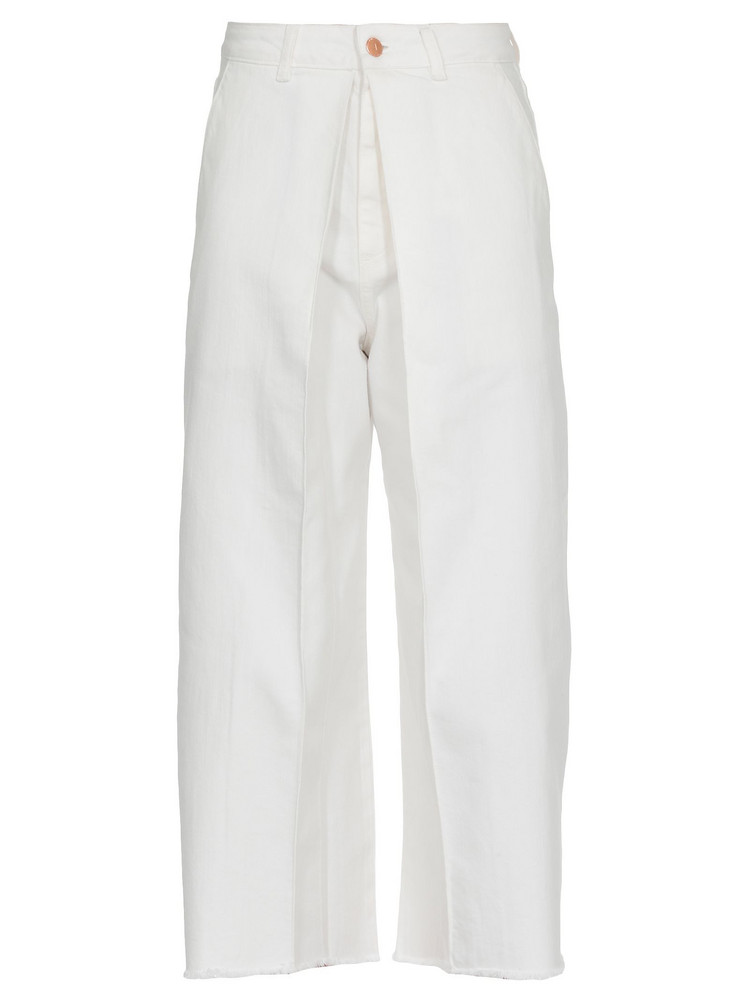 AALTO Cotton Trousers in white