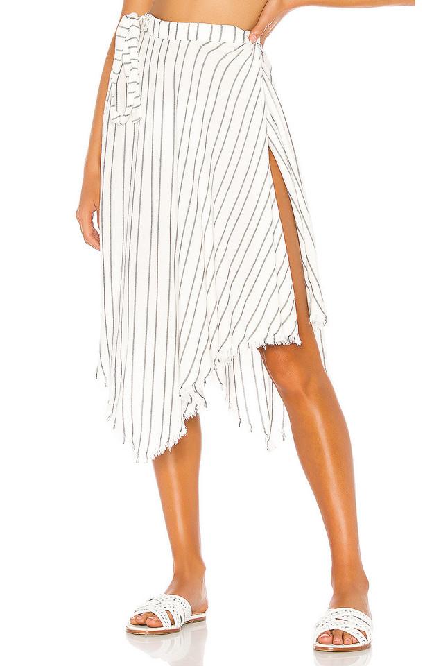 Indah Selena Wrap Skirt in white